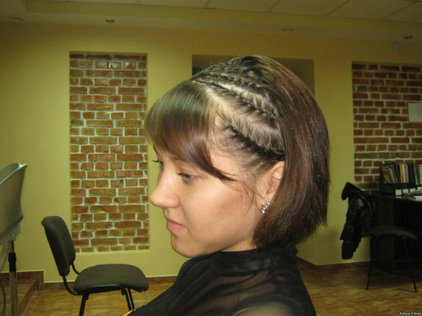 Гофре прически фото на короткие волосы